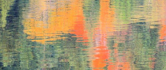 Autumn Colore Reflected On Erie Lake